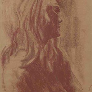 Nudo femminile 1973 50x30cm