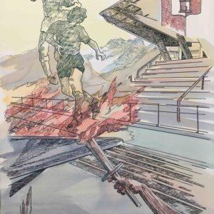 Senza Titolo - Stampa per inaugurazione Centro per lo Sport Cles 1989