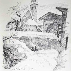 Chiesa di San Vigilio 1985 - pennarello