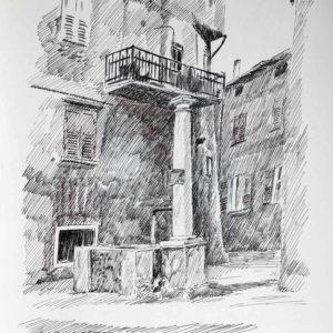 Fontana a Spinazeda 1985 - pennarello