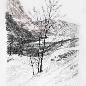 Inverno a Terlago 1987 - pennarello