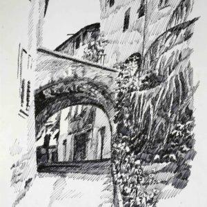 Larco del Franceschin a Pez 1987 - pennarello