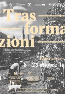 Locandina Mostra Trasformazioni Livo 8-23 ottobre 2016