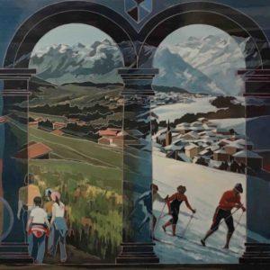 Murales acrilico a Cavareno 1987 170x320cm