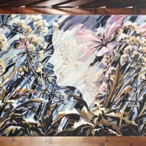 Primavera - murale acrilico a Cles 1981 4x15m-