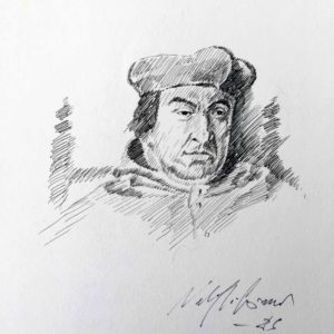 Ritratto di Bernardo Cles - carboncino
