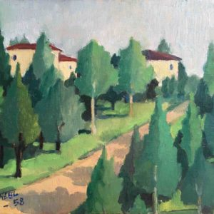 Senza titolo (paesaggio) 1958 20x30