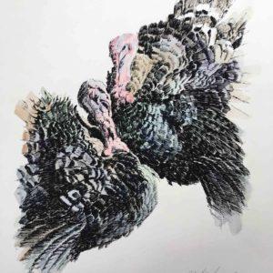 Tacchini - serigrafia acquarellata 1985